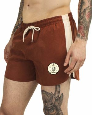 red swim trunks for men