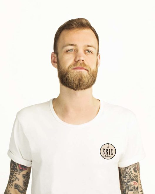 classic white t-shirt for men